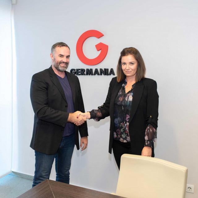 Edo Blažević, predsjednik Split i Jasmina Batarilo-Ćerdić, direktorica marketinga Germanije
