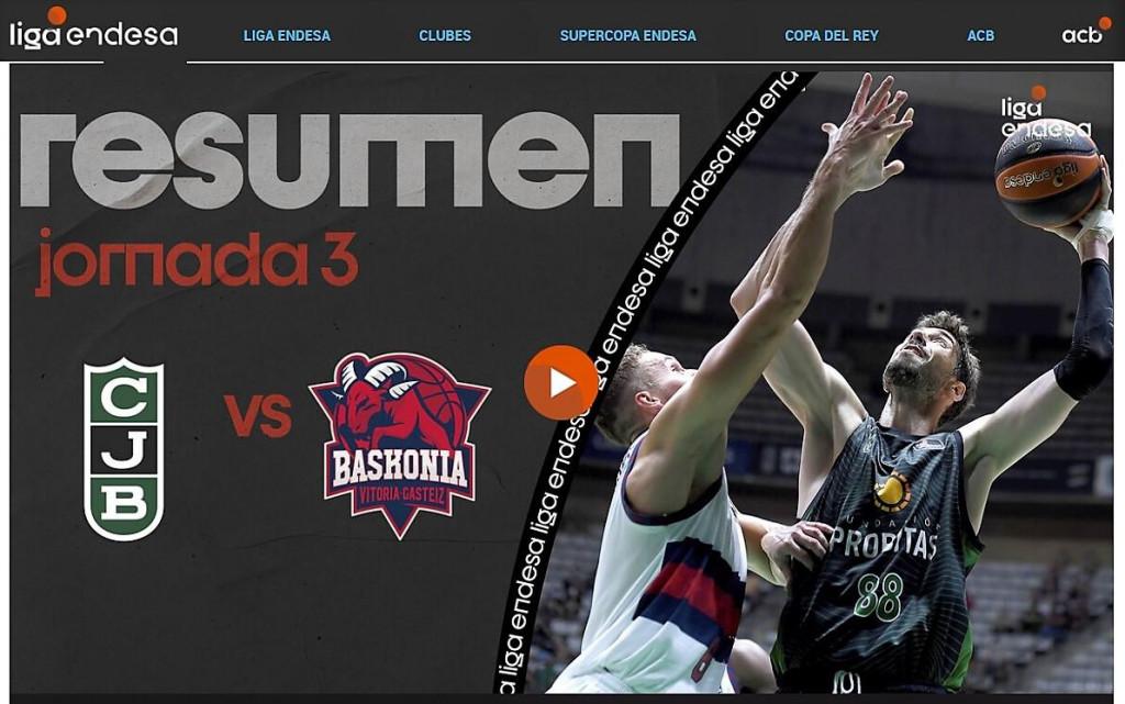Ante Tomić u glavnoj ulozi na službenoj stranici španjolskog prvenstva nakon 72:61 pobjede Joventuta protiv Baskonije u 3. kolu