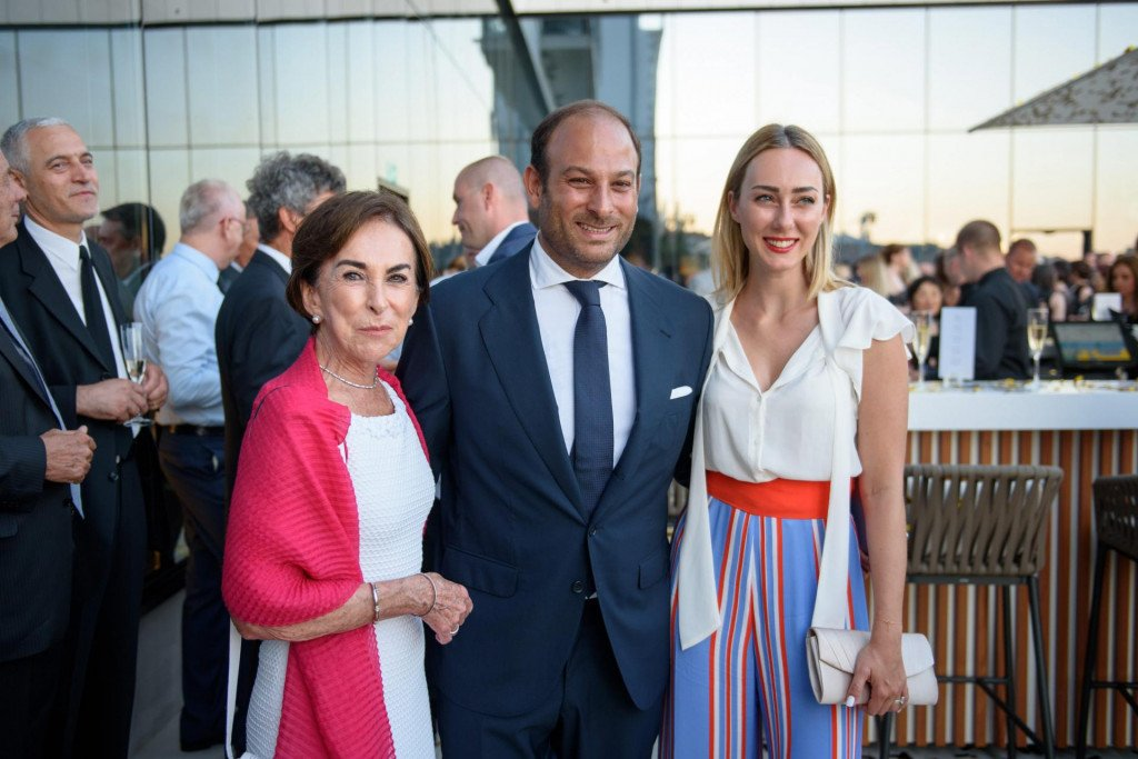 Davor Lukšić s bakom i suprugom Cristel Carrisi na otvorenju Hotela Excelsior 2017.<br />