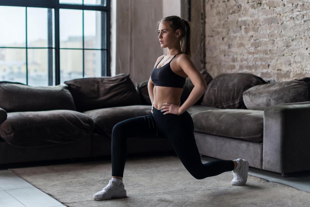 Vježbanje kod kuće - iskorak