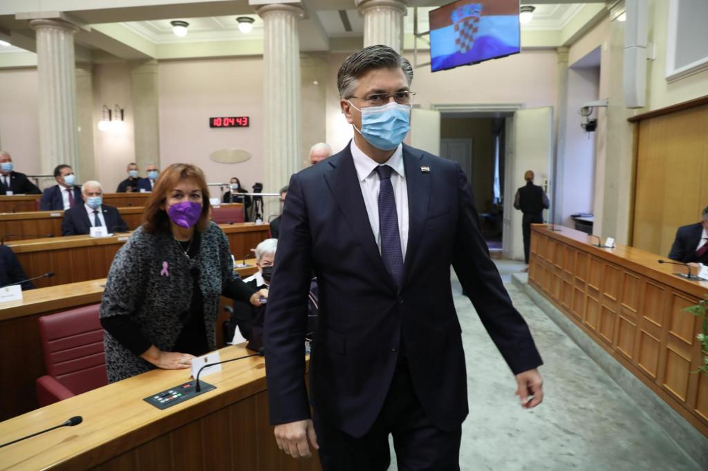 Andrej Plenković na Dan Sabora govorio je o snimci nasilja prema migrantima, ali i o SDP-u i Možemo<br />
