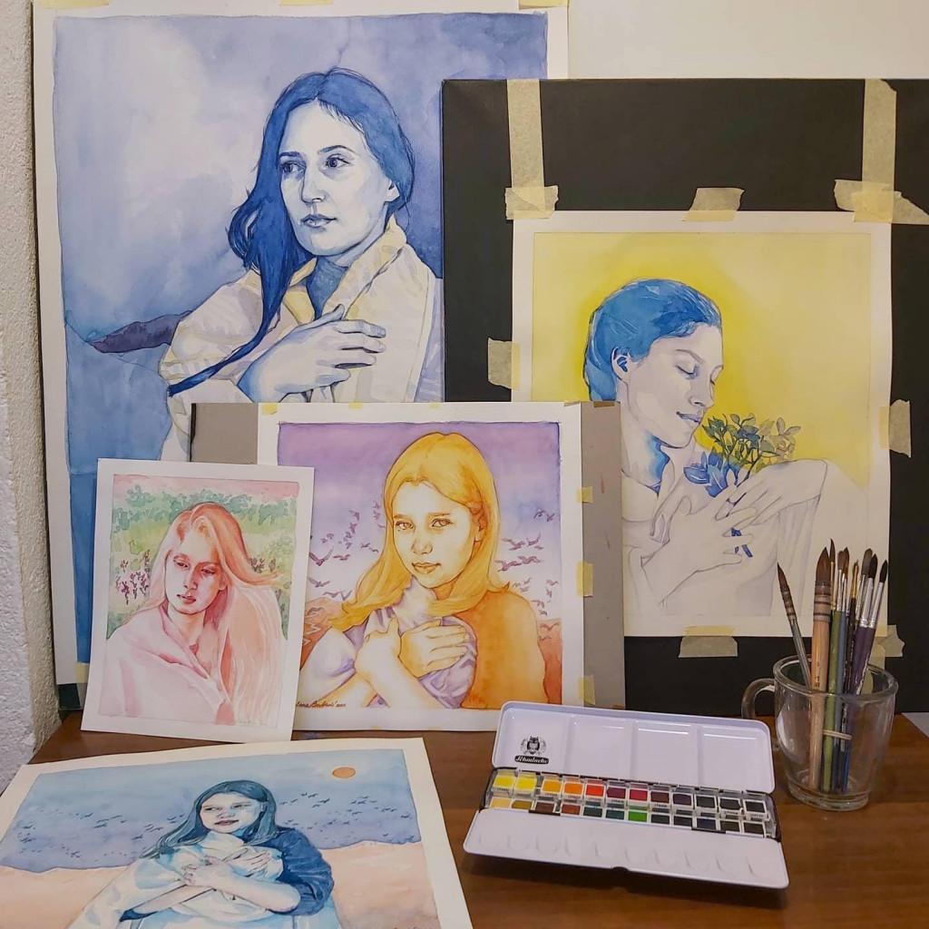 U organizaciji Dubrovačkih knjižnica upriličit će se otvorenje prve samostalne izložbe mlade slikarice Sunčane Barbarić pod naslovom ''Stazama snova''