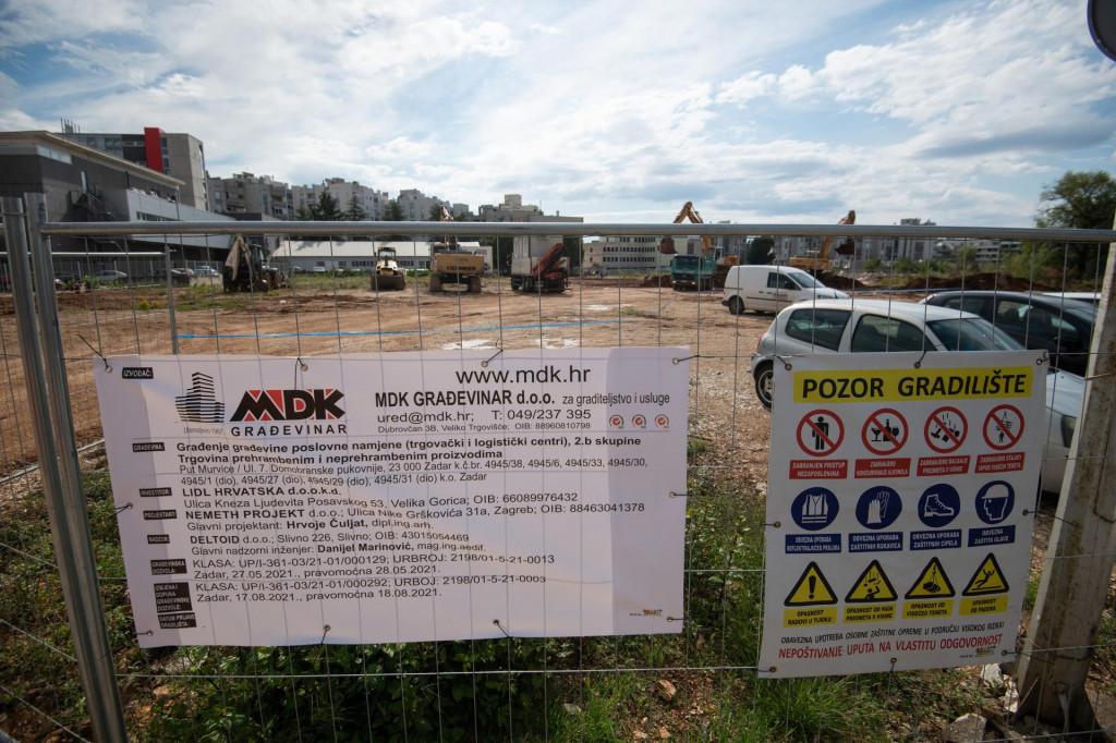 Zadar, 081021.<br /> Pocela je izgradnja nove trgovine Lidl u Murvickoj ulici u Zadru.<br />