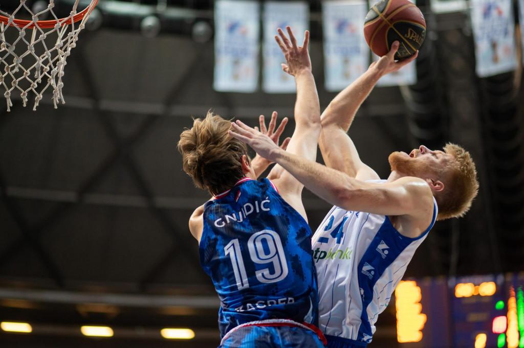 Zadar, 081021<br /> Dvorana Kresimir Cosic. Utakmica regionalne kosarkaske ABA lige izmedju KK Zadar i KK Cibona.<br /> Na fotografiji: Dario Dreznjak.<br />