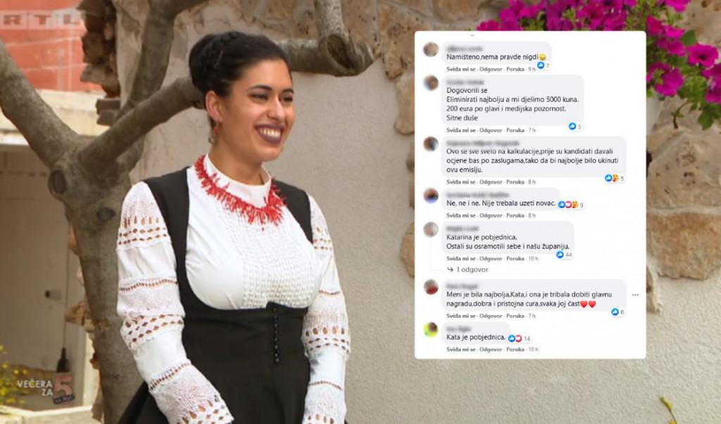 Večera za pet na selu koja je prikazivana ovaj tjedan snimala se u Šibeniku i okolici. Gledateljima se najviše svidjela Katarina iz Skradina, no ostali natjecatelji nisu bili takvog mišljenja...