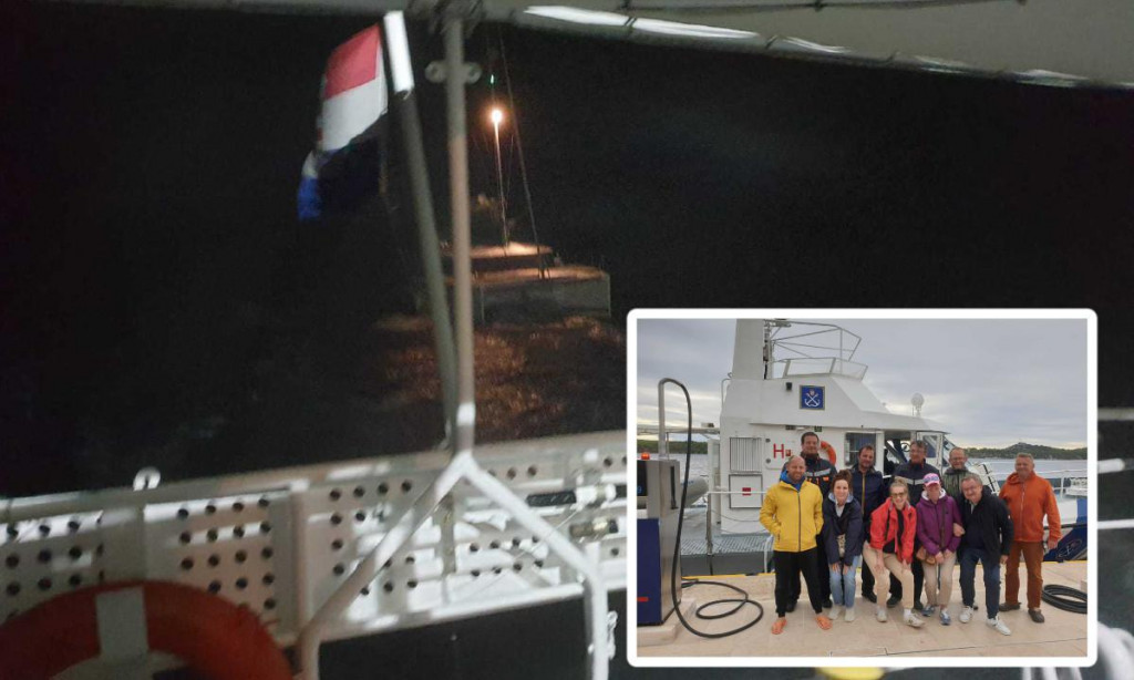Brod Lučke kapetanije isplovio je u pomoć po lošem vremenu, valovi su bili veći od četiri metra