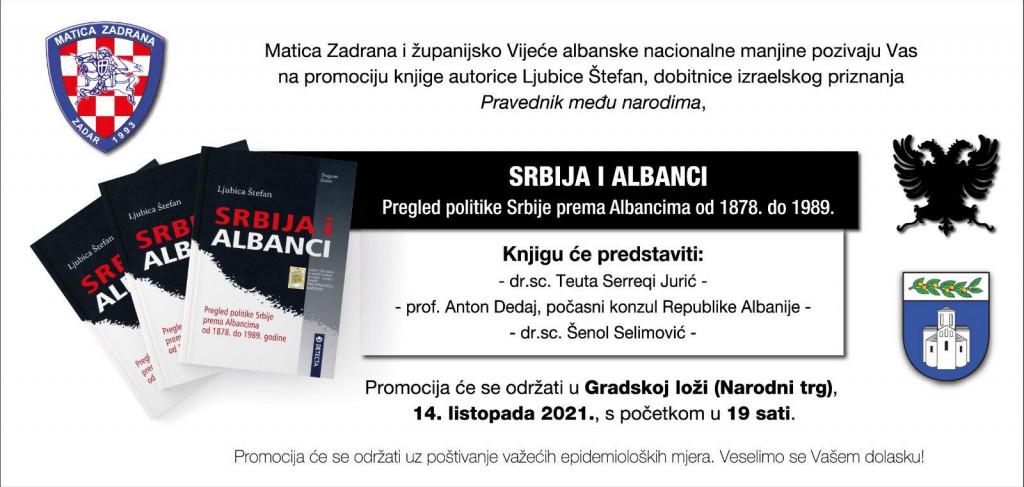 Pozivnica na predstavljanje knjige Srbija i Albanci
