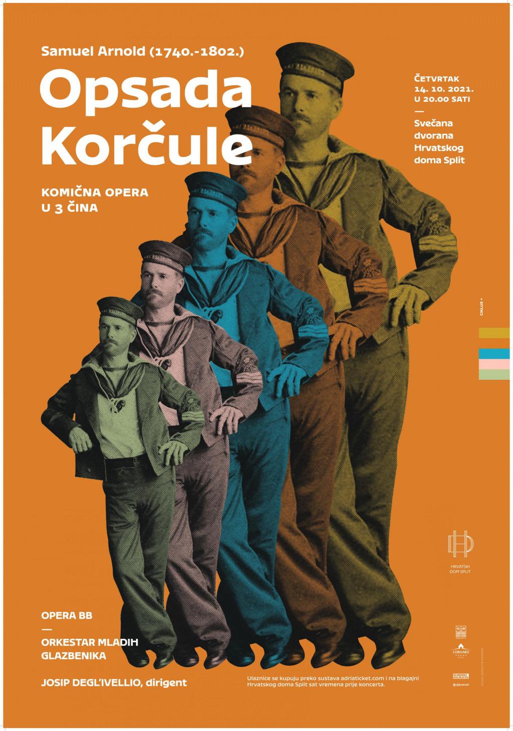 Plakat 'Opsade Korčule'
