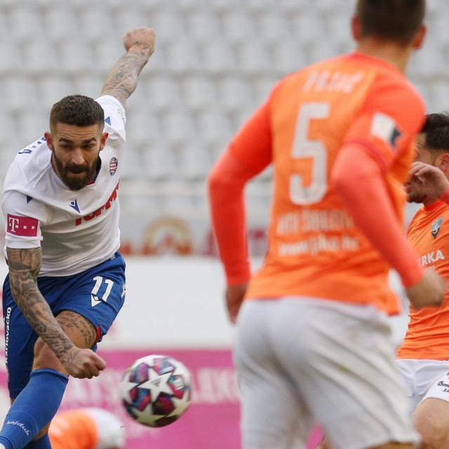 Marko Livaja na zadnjoj utakmici između Hajduka i Šibenika odigranoj na Poljudu