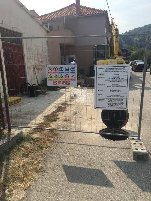 Radovi na izgradnje kanalizacije u Opuzenu<br /> foto: facebook grada Opuzena