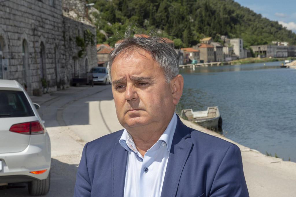 Načelnik općine Slivno Smiljan Mustapić<br />