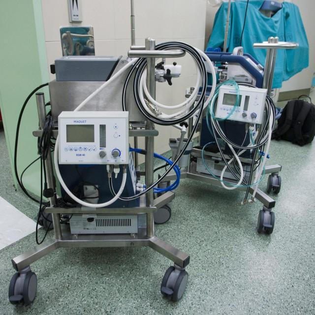 ESMO uređaji u središnjem operacijskom bloku bolnice na Firulama.<br />