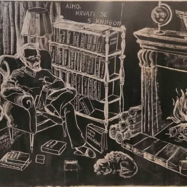 Buvljak knjiga u prizemlju Narodne knjižnice Grad