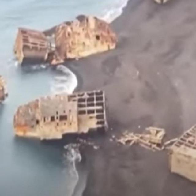 Olupine brodova iz bitke za Iwo Jimu Screenshot: Youtube