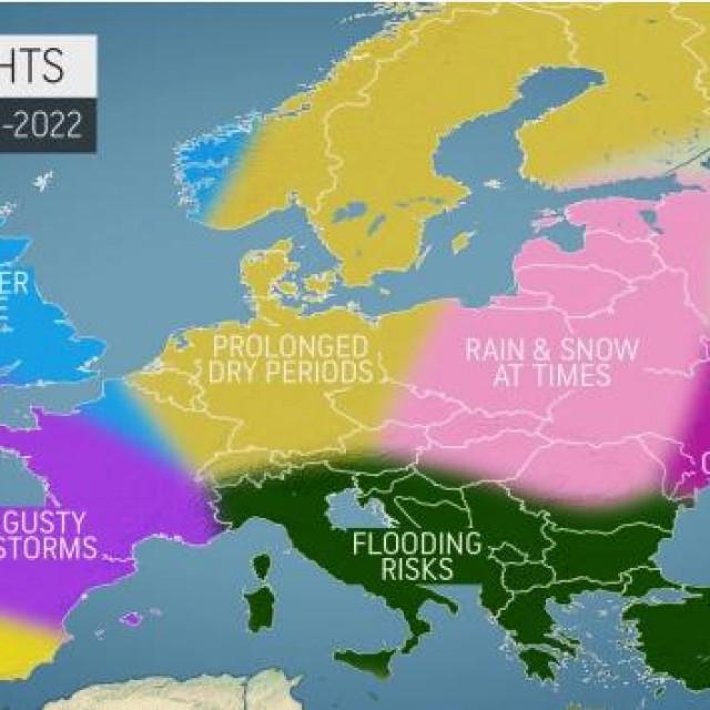 Meteorolozi AccuWeathera objavili su godišnju zimsku prognozu za Europu