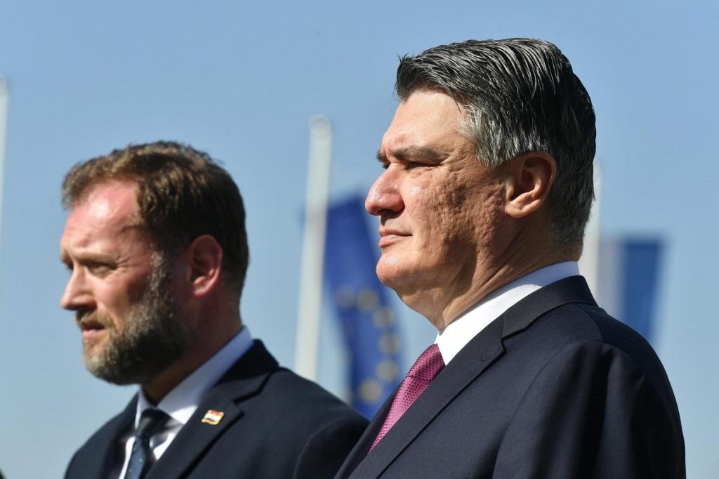 ministar Mario Banožić i Zoran Milanović<br />