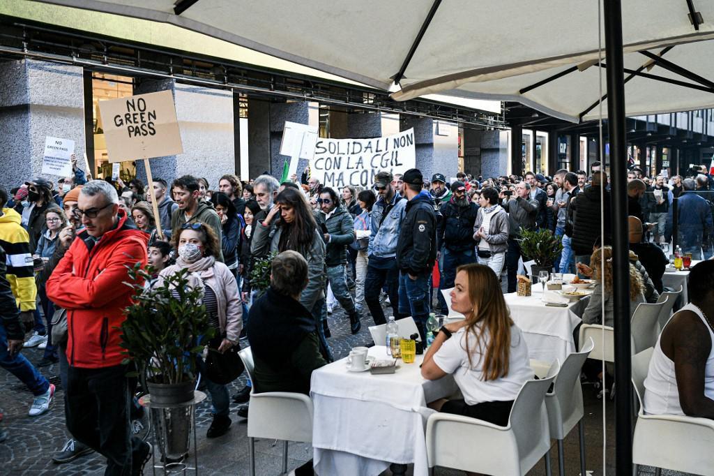 Prosvjed u Milanu