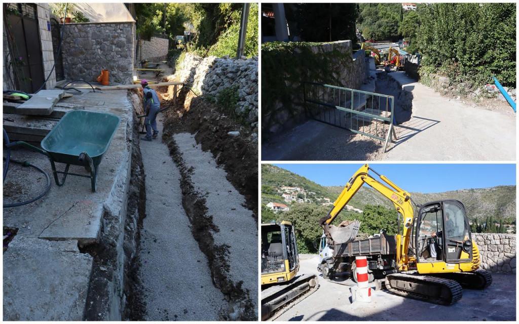 Radovi na odvodnji u projektu Aglomeracija Dubrovnik u Malom Zatonu