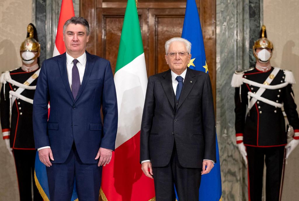 Zoran Milanović danas se u Rimu sastao s talijanskim predsjednikom Sergijom Mattarellom