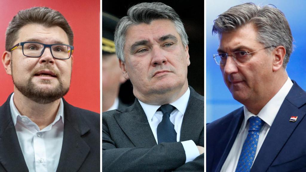 Peđa Grbin, Zoran Milanović i Andrej Plenković