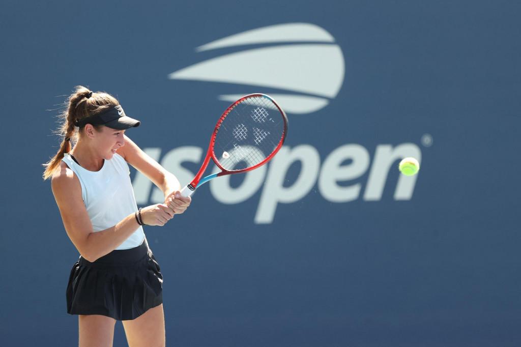 Lucija Ćirić Bagarić na juniorskom US Openu 2021. godine