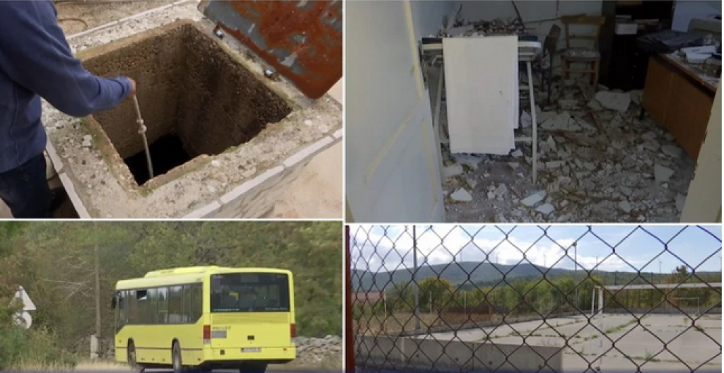 Život Bristvice u četiri fotografije: devastirana ambulanta, zapušteno školsko igralište, prazni bunari i rijetki autobusi